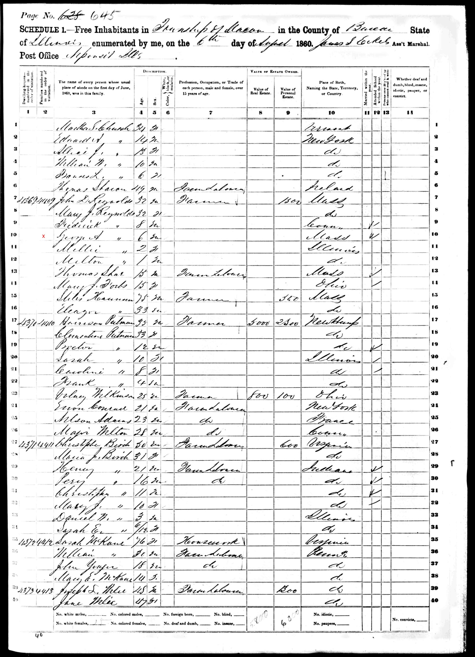 Illinois bureau county ohio - They Moved To Buda For Two Years And Then Purchased A 160 Acre Farm In Section 6 Of Indiantown Bureau County Illinois In 1862